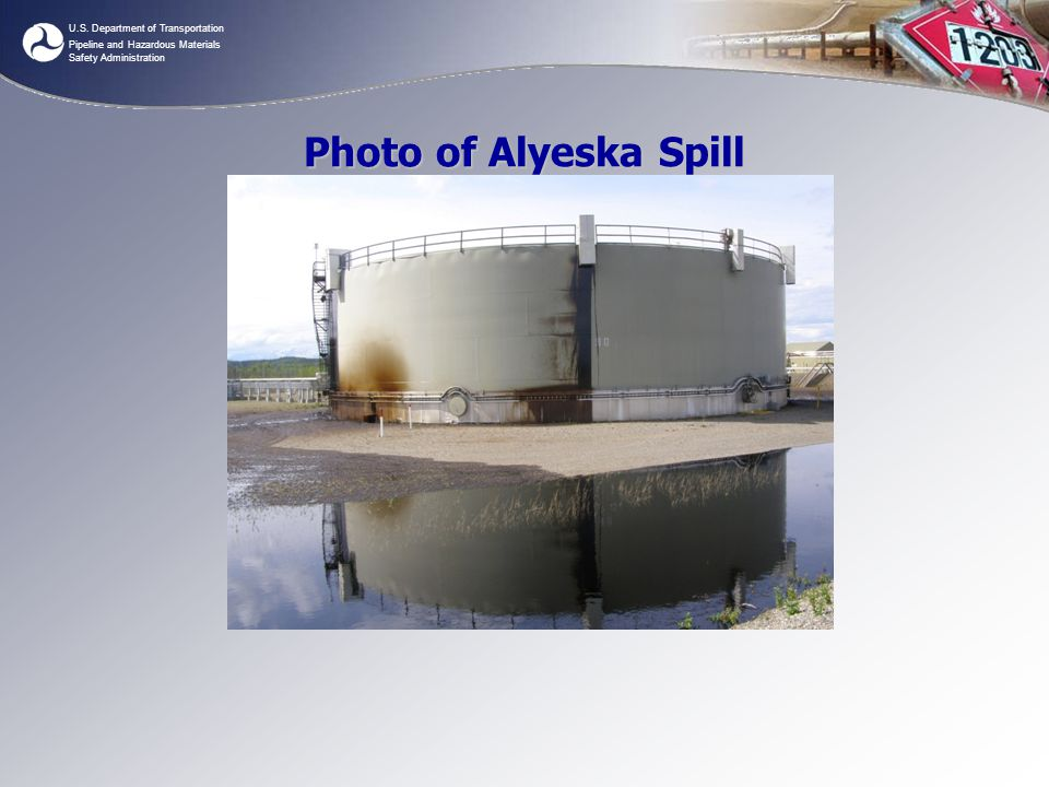 U.S. Department of Transportation Pipeline and Hazardous Materials Safety Administration Photo of Alyeska Spill