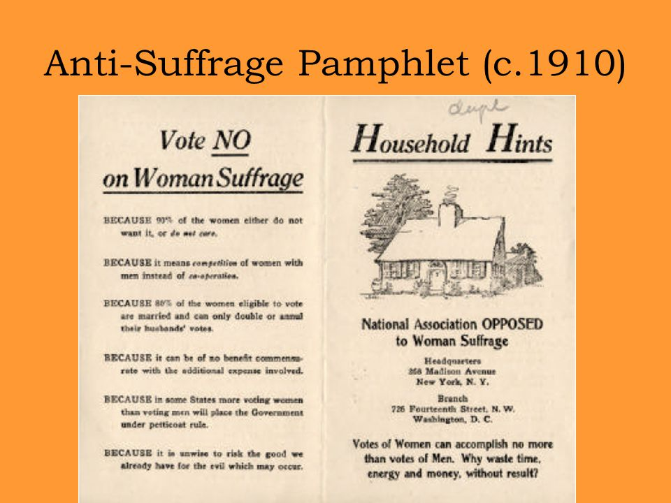 Anti-Suffrage Pamphlet (c.1910)