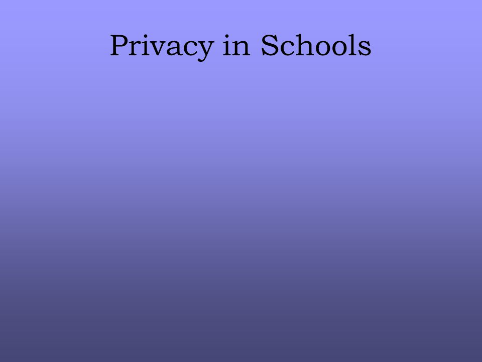 Privacy in Schools
