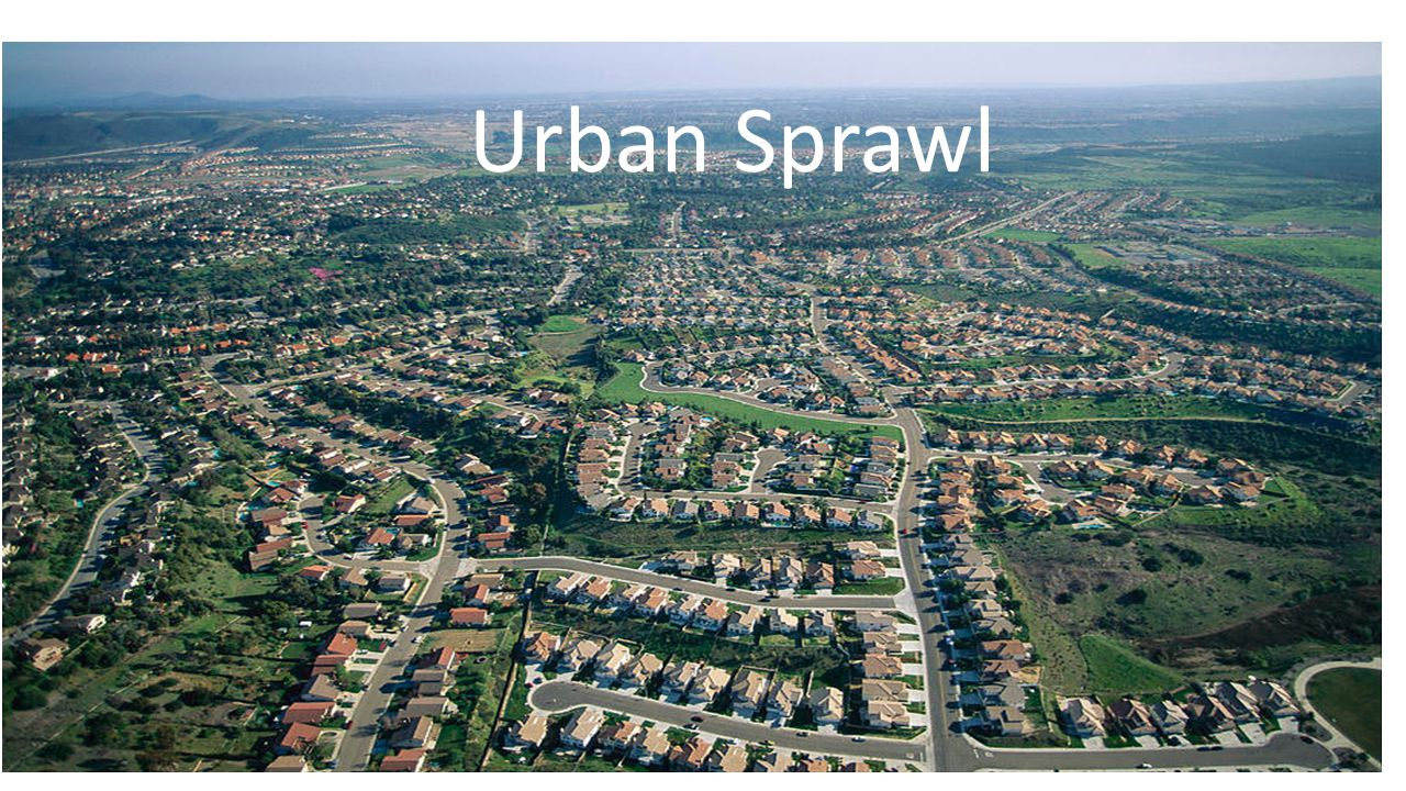 Definition Our textbook definition for urban sprawl is the rapid, often poorly planned spread of development from an urban area outward into rural areas.