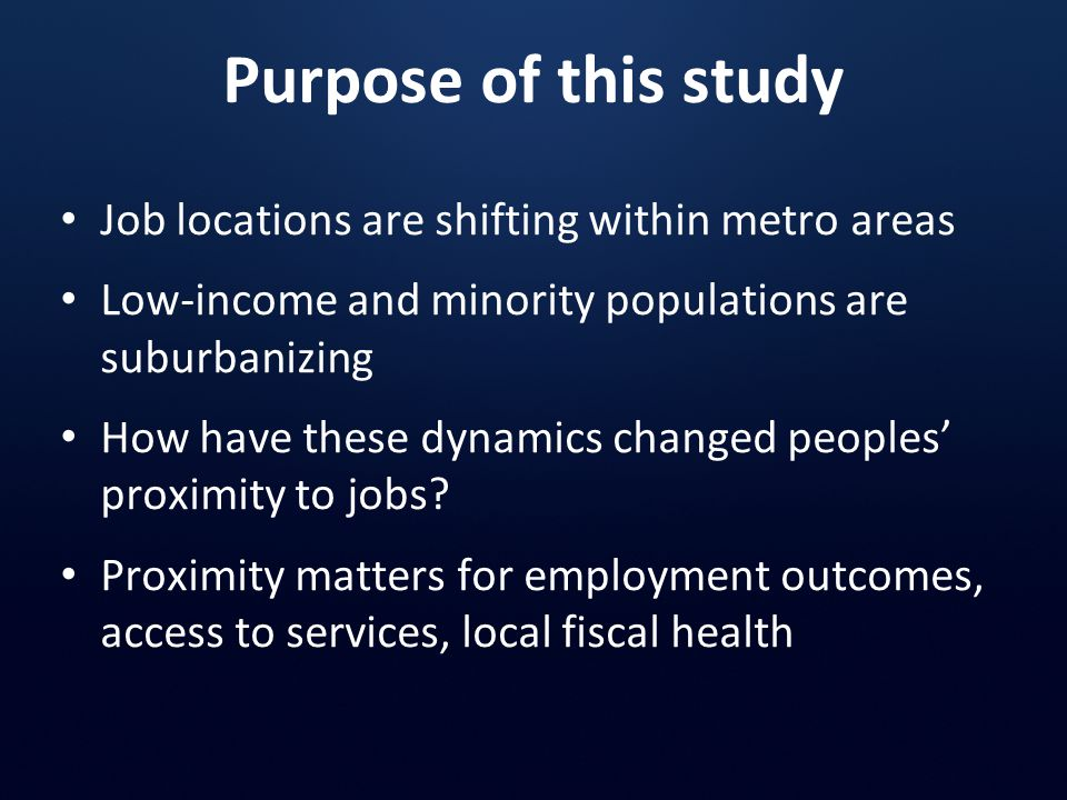 These neighborhoods experienced particularly pronounced declines in the number of nearby jobs Source: Brookings Institution analysis of Census 2000 data -14.3% -17.0% -9.9% -15.8%