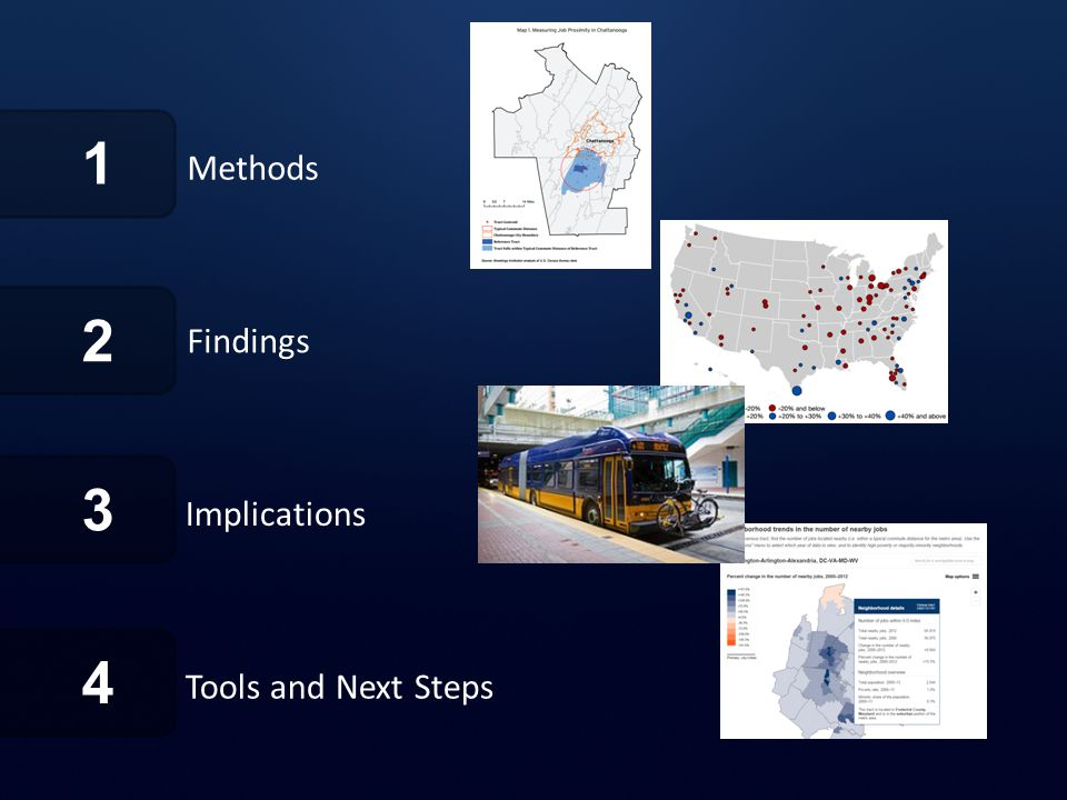 1 Methods Findings 2 4 Tools and Next Steps 3 Implications