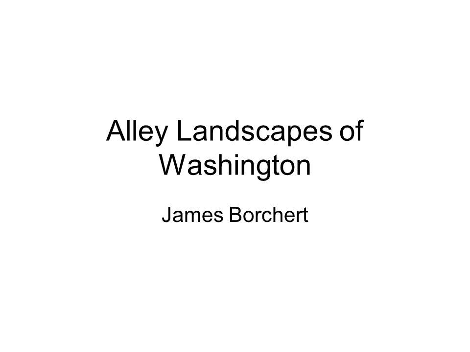 Alley Landscapes of Washington James Borchert