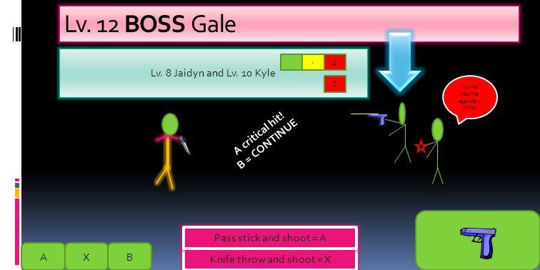 Lv.12 BOSS Gale BAX 30 HP Boss Gale No. He has the legendary knife.