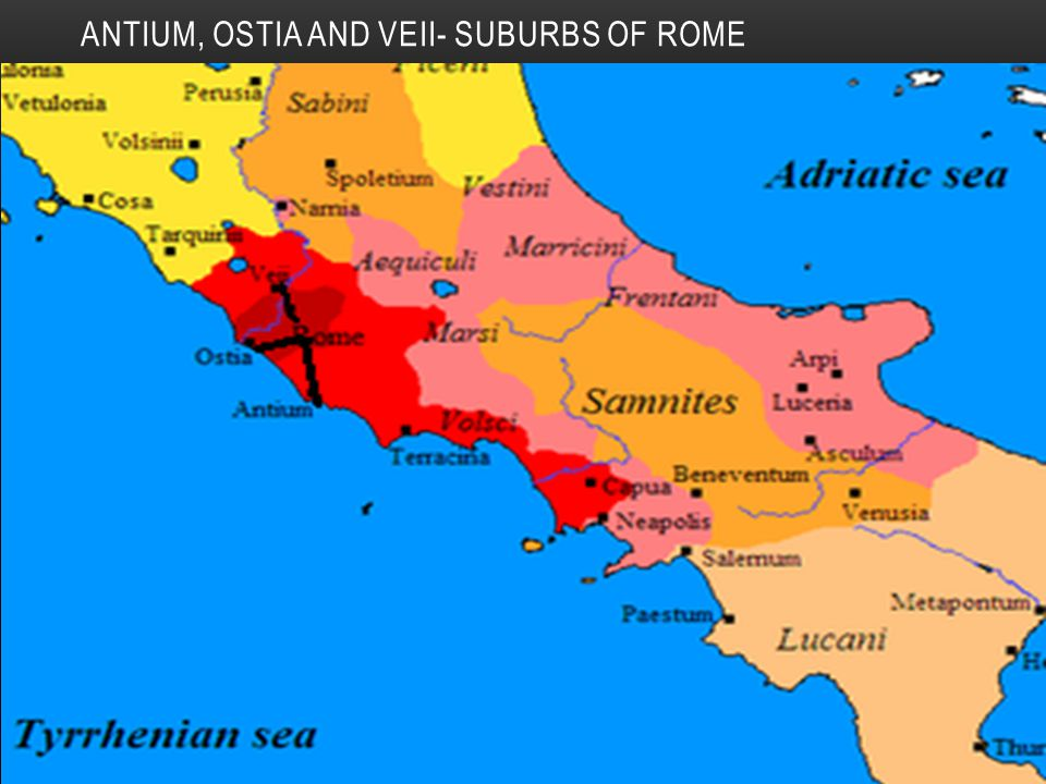 ANTIUM, OSTIA AND VEII- SUBURBS OF ROME