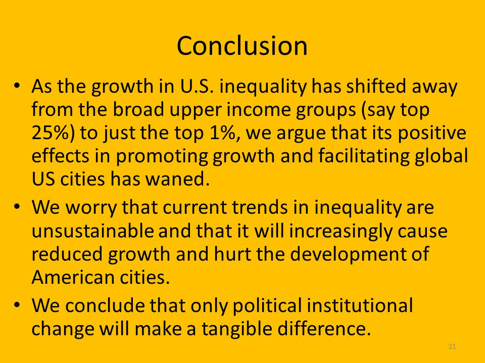 Conclusion As the growth in U.S.