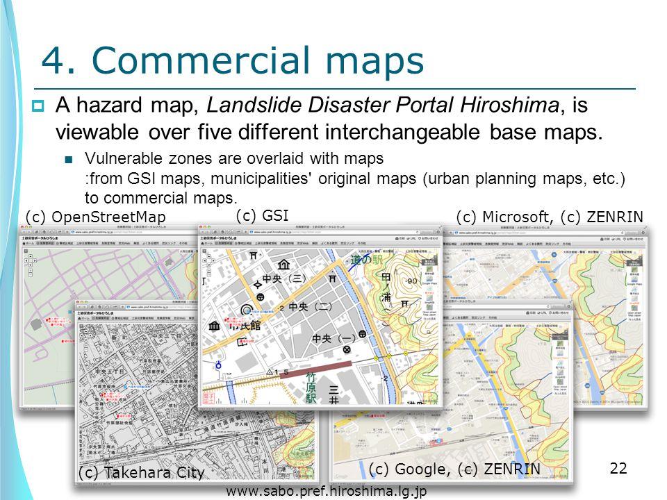 (c) Google, (c) ZENRIN (c) GSI (c) Microsoft, (c) ZENRIN(c) OpenStreetMap (c) Takehara City 4.