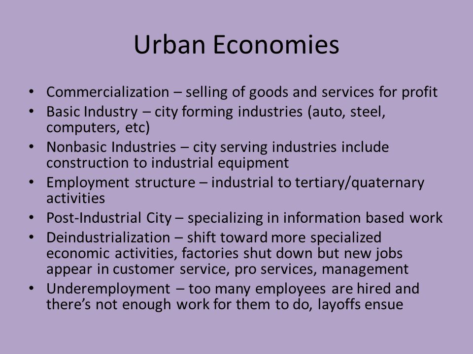 Models of US Cities Sector Model – based on class but describe social structure based on transportation systems rather than on distance from central business district – 1.