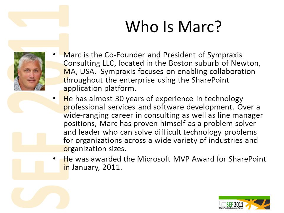 Who Is Marc.