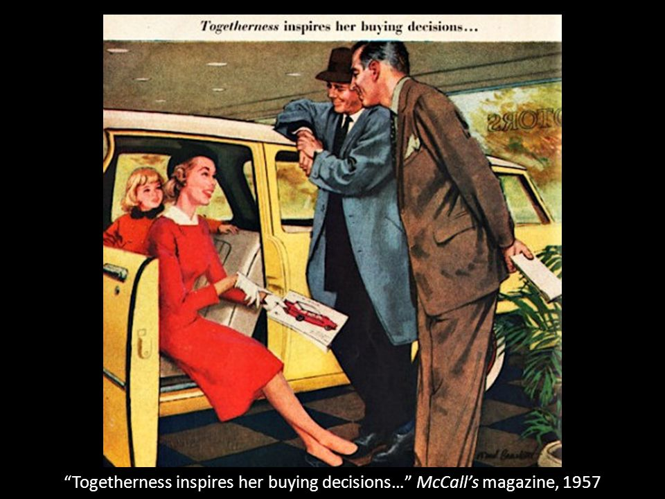 Togetherness inspires her buying decisions… McCall's magazine, 1957
