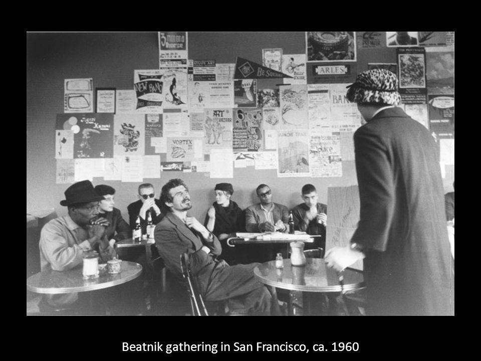 Beatnik gathering in San Francisco, ca. 1960
