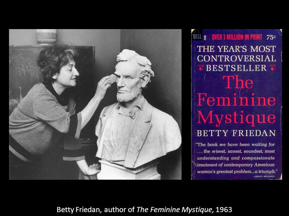 Betty Friedan, author of The Feminine Mystique, 1963