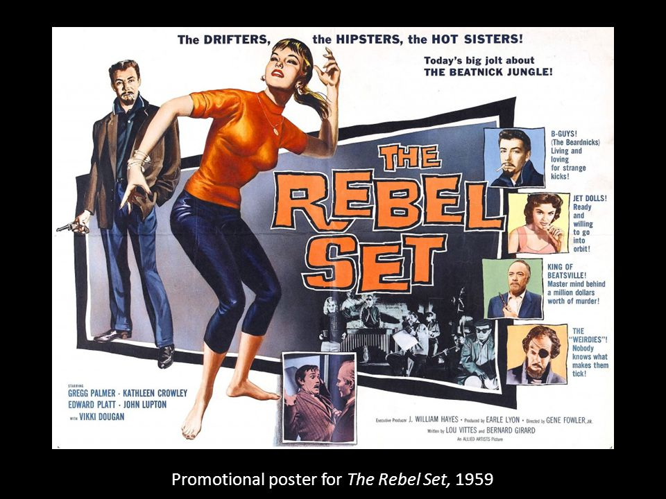 Promotional poster for The Rebel Set, 1959