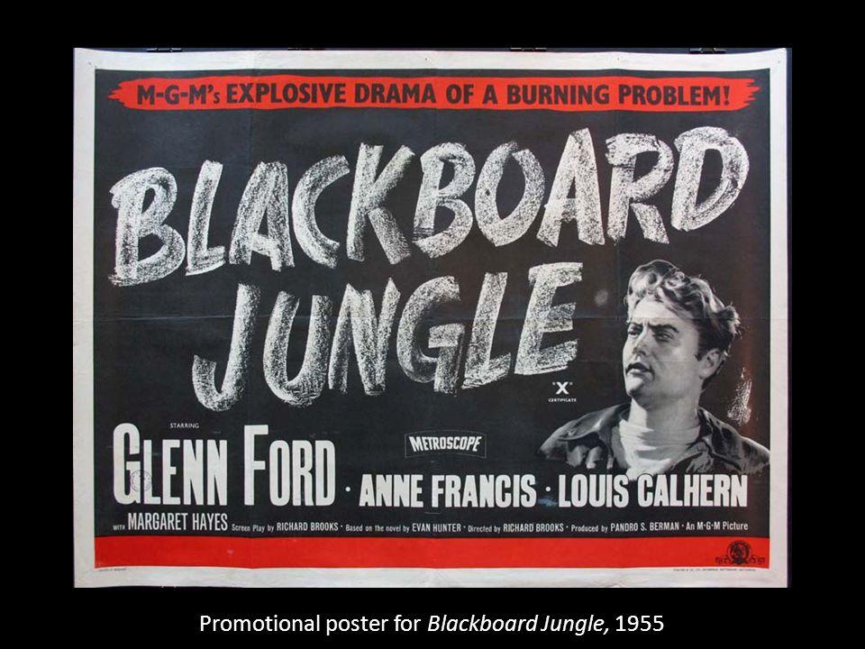 Promotional poster for Blackboard Jungle, 1955
