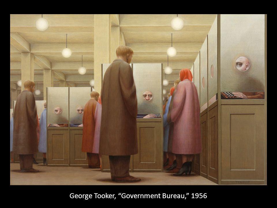 George Tooker, Government Bureau, 1956
