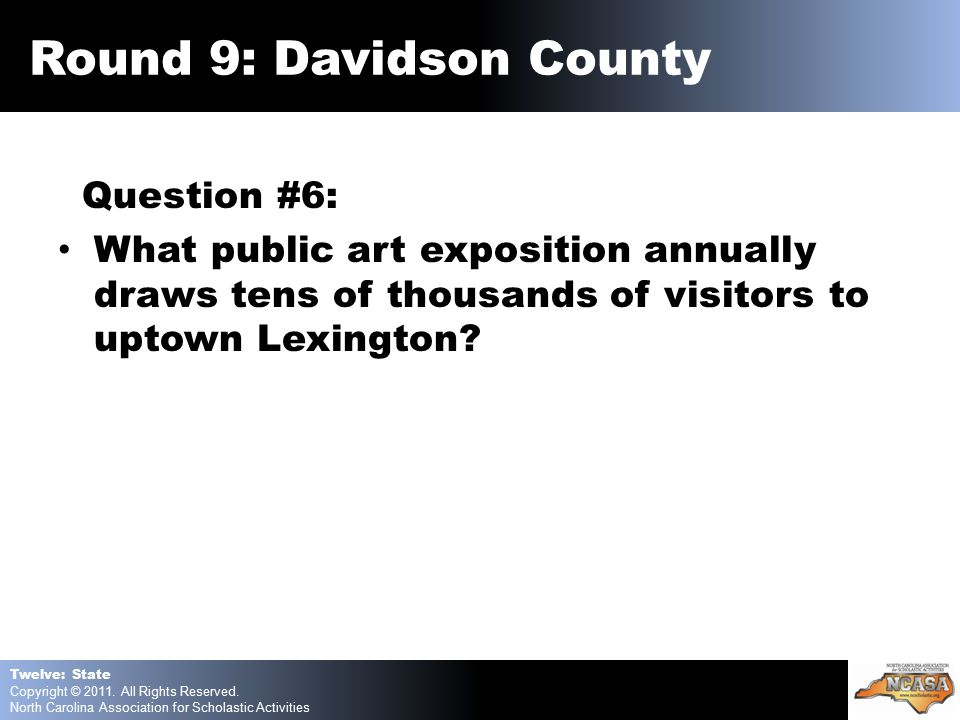 Question #6: What public art exposition annually draws tens of thousands of visitors to uptown Lexington.