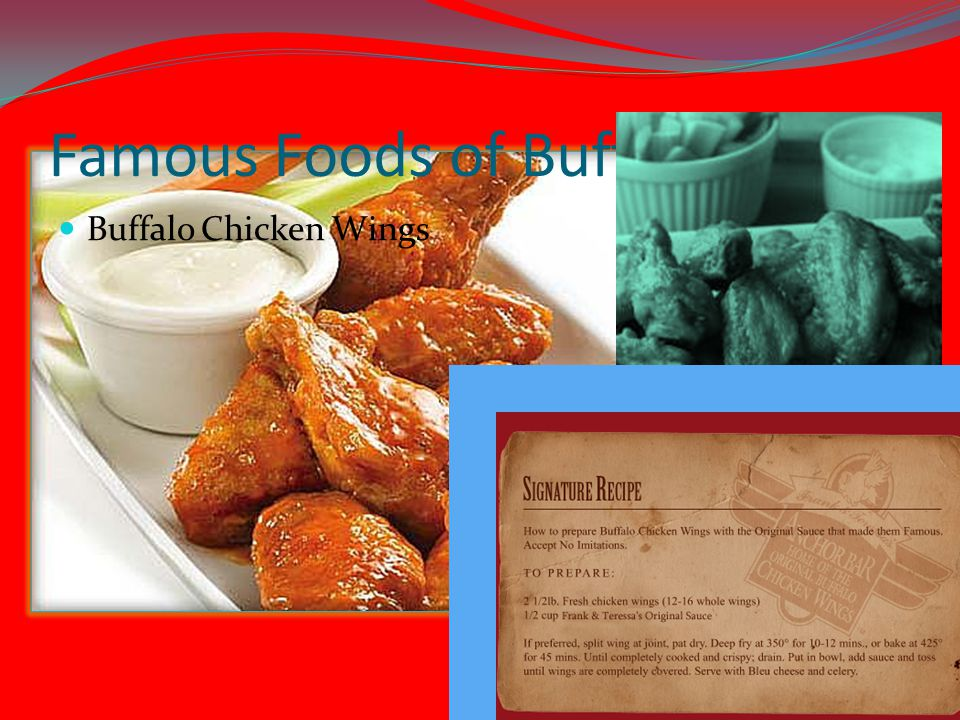 Famous Foods of Buffalo, NY Buffalo Chicken Wings