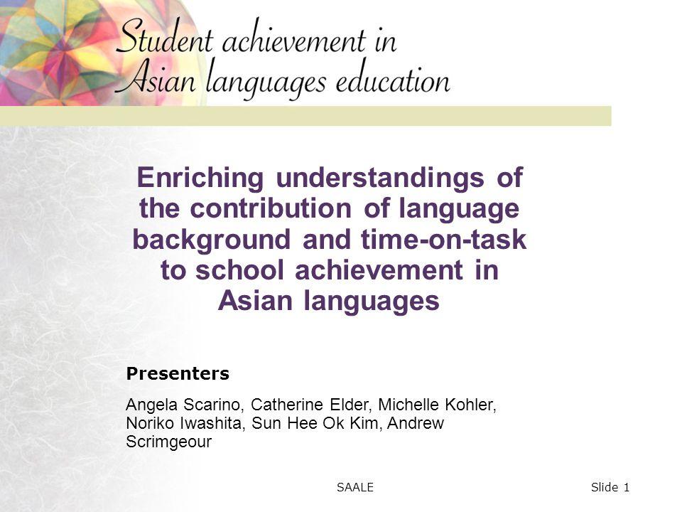 Variation in performance on a communicative writing task (Japanese) Noriko Iwashita, University of Queensland Slide 32SAALE