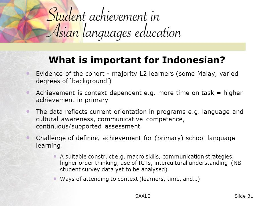 What is important for Indonesian.