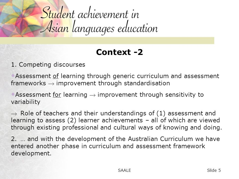 Chinese issues The impact of learner background on performance in speaking and writing tasks at year 10 level.