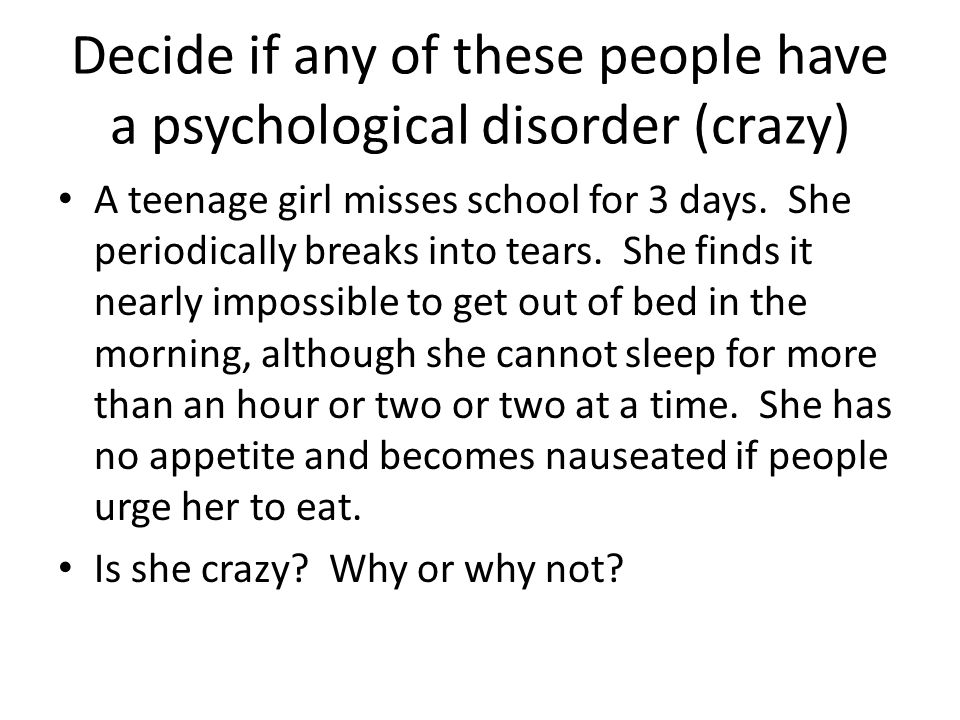 What does it mean to have a psychological disorder.