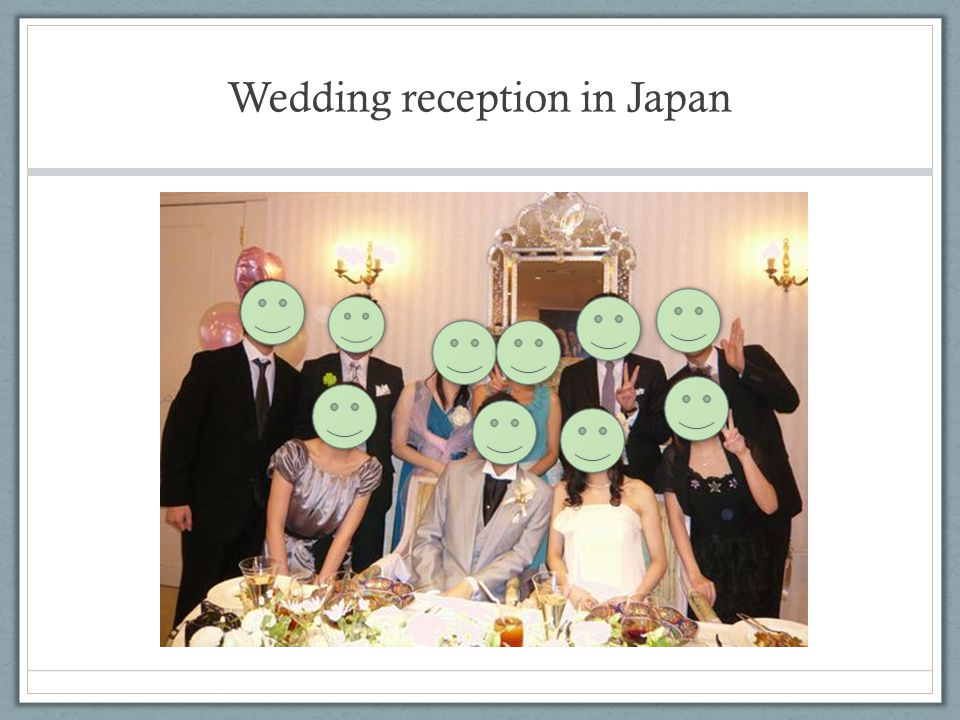 Wedding reception in Japan