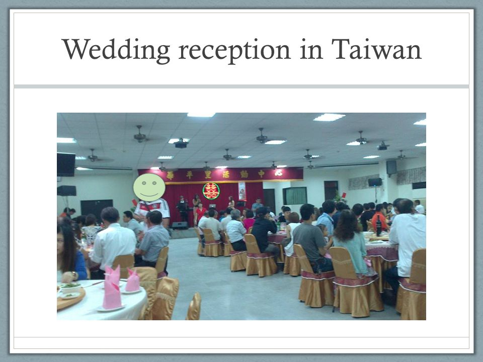Wedding reception in Taiwan