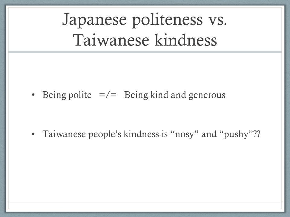 Japanese politeness vs.