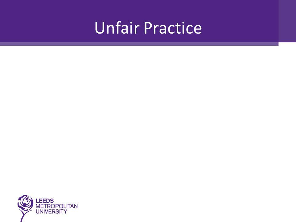 Unfair Practice