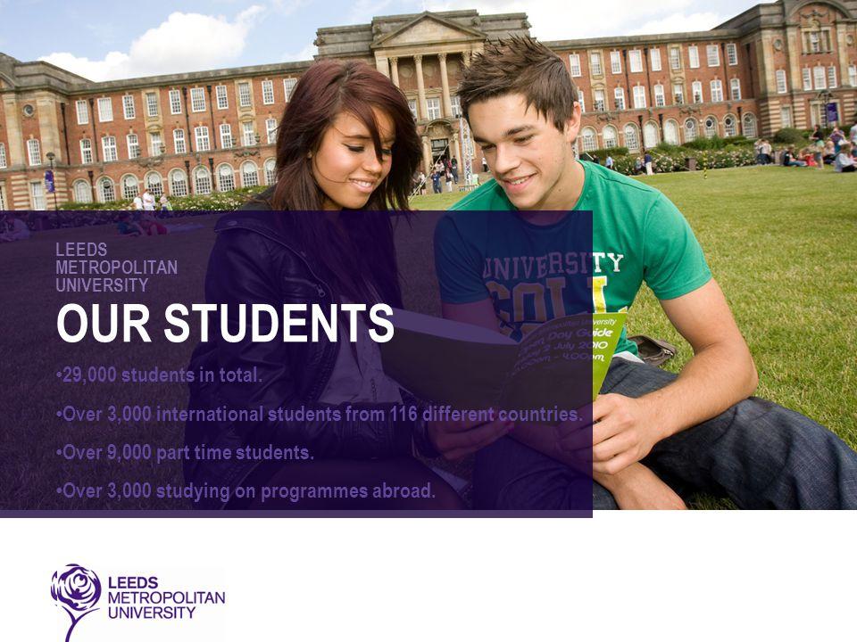 LEEDS METROPOLITAN UNIVERSITY OUR STUDENTS 29,000 students in total.