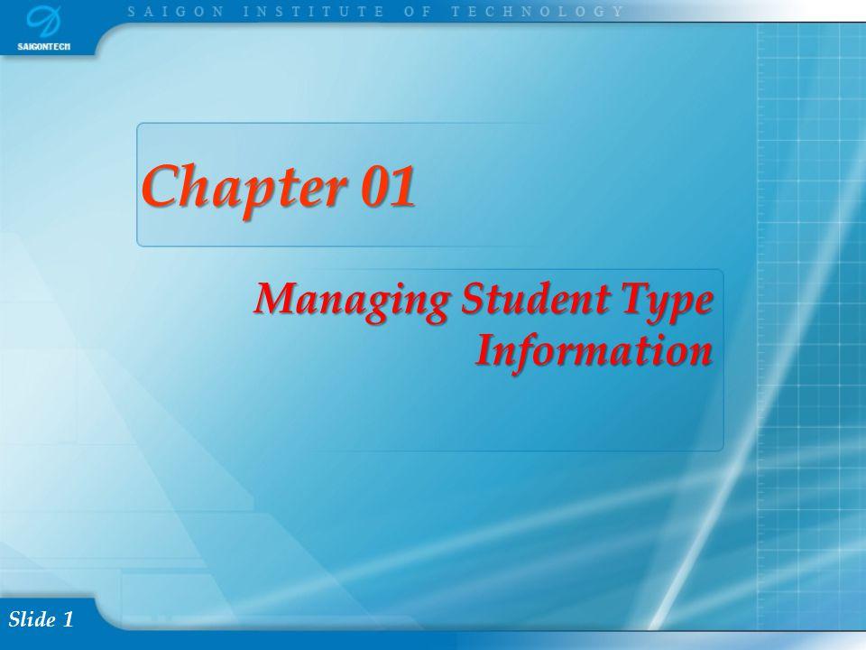 Slide 2 Content I. Managing Student Type Information Problem II. Solution