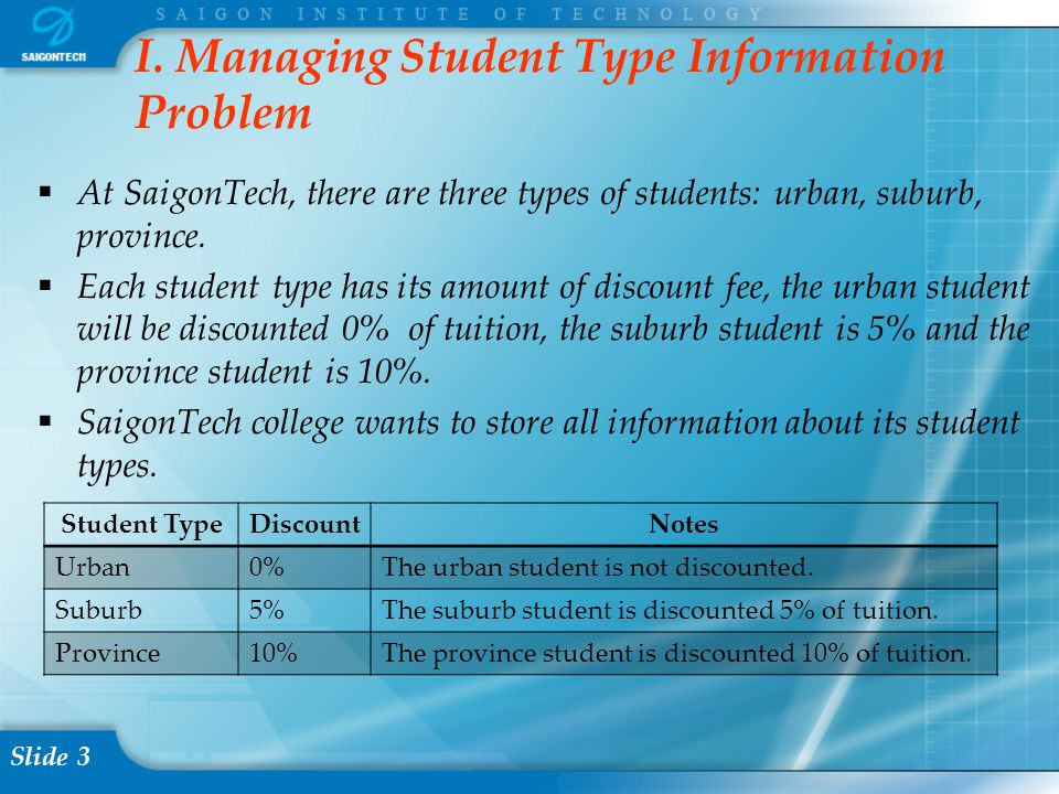 Slide 24 3.2.5 Testing – Checking the inserted data Select * from STUDENT_TYPE