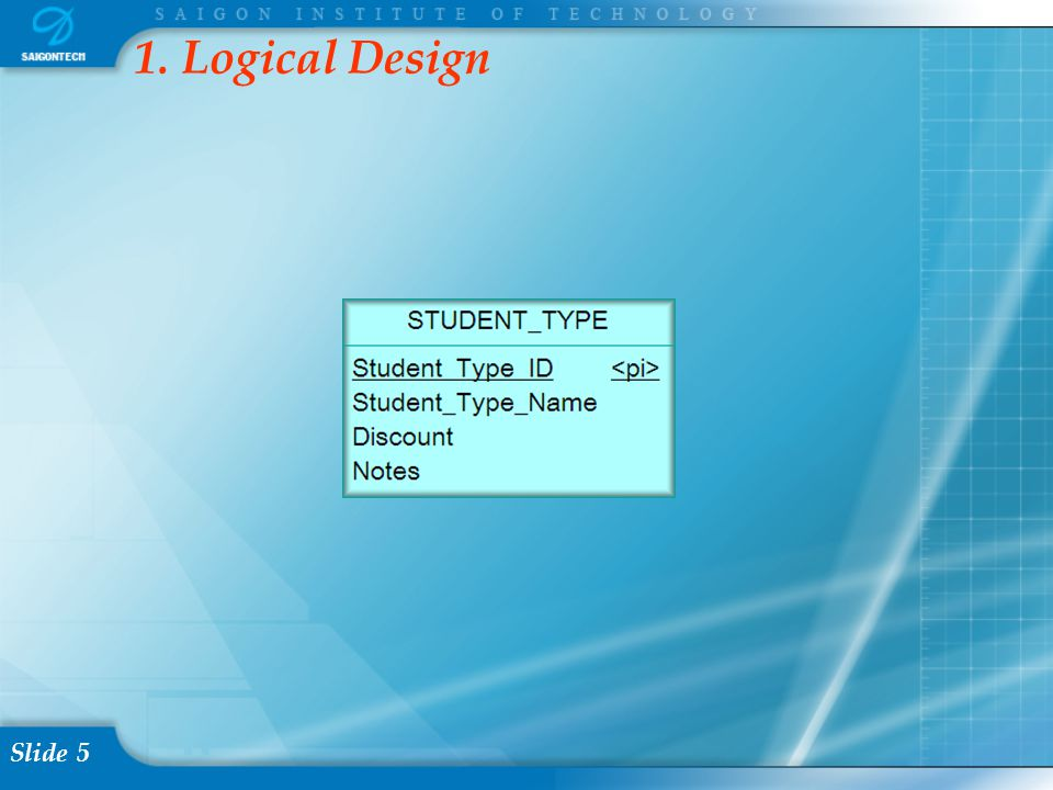 Slide 16 3.1.3.1 Opening Table Right click on the STUDENT_TYPE table  Choose Open Table