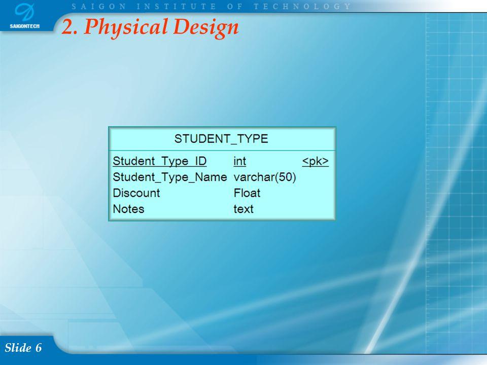 Slide 6 2. Physical Design