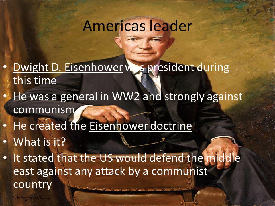 Americas leader Dwight D.