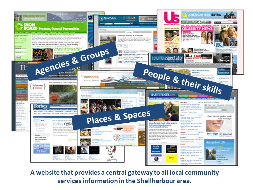 It will allow community organisations to list their details on an online service directory as well as post information about upcoming projects, events, activities, training and funding opportunities that are happening across the Shellharbour LGA.