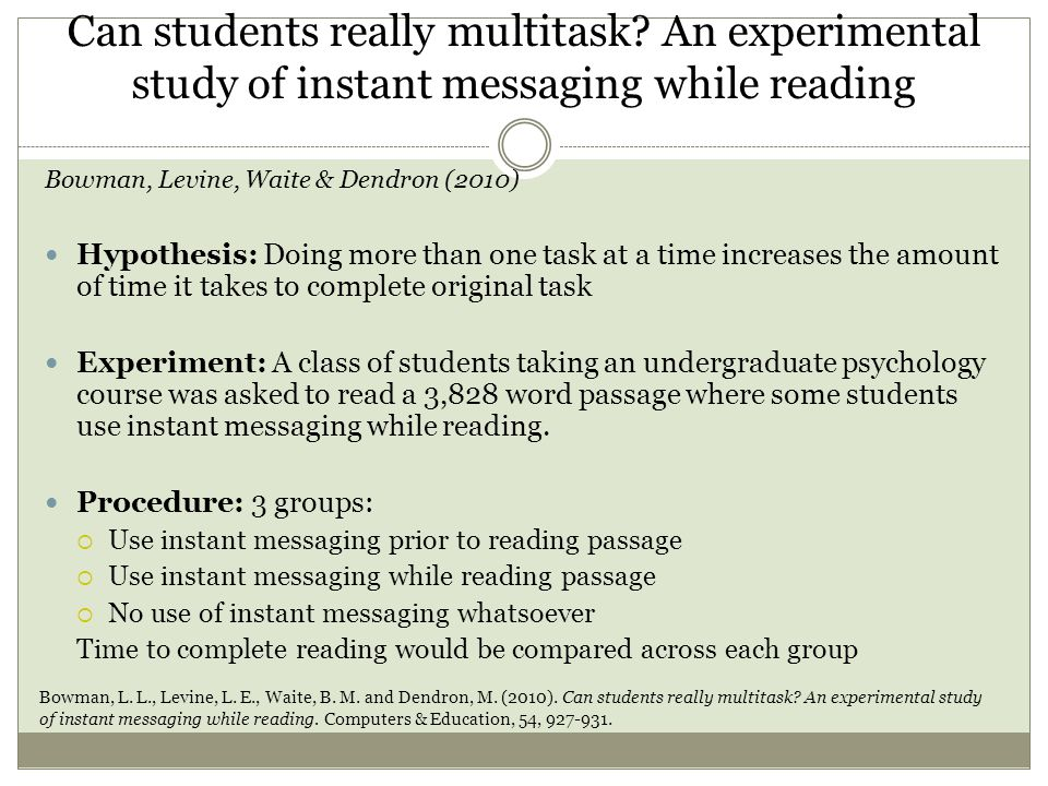 Can students really multitask.
