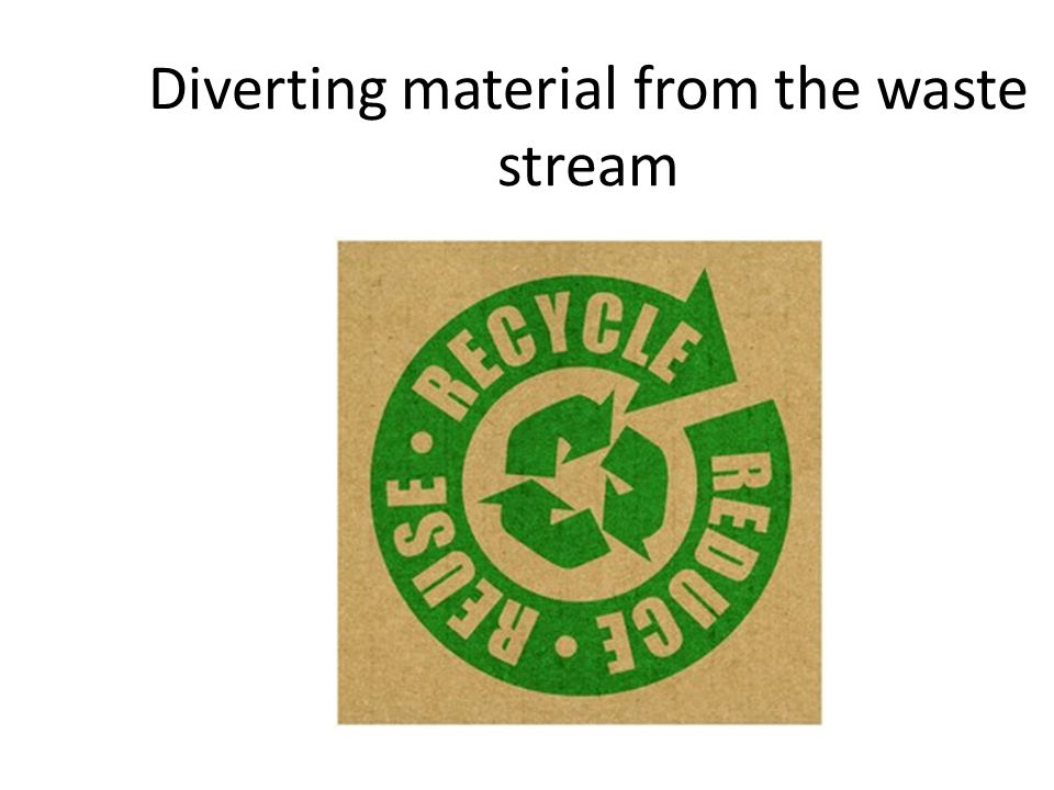 Diverting material from the waste stream