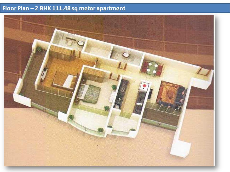 Floor Plan – 2 BHK 111.48 sq meter apartment
