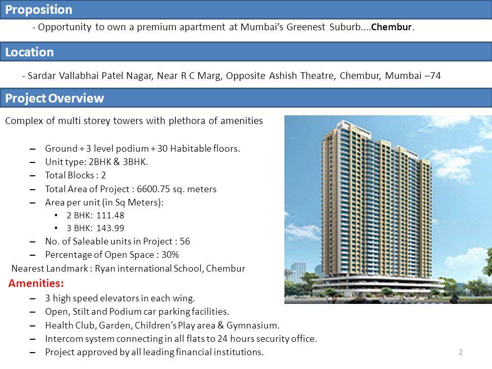 - Opportunity to own a premium apartment at Mumbai's Greenest Suburb....Chembur.
