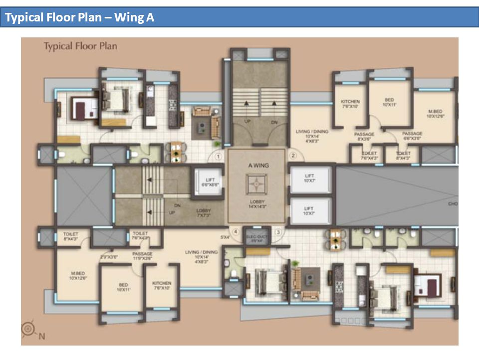 8 Typical Floor Plan – Wing A