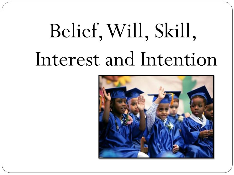 Belief, Will, Skill, Interest and Intention
