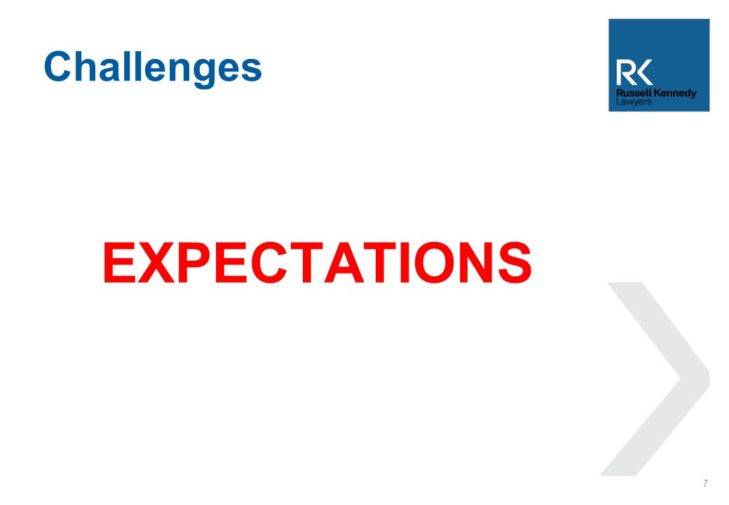 EXPECTATIONS Challenges 7