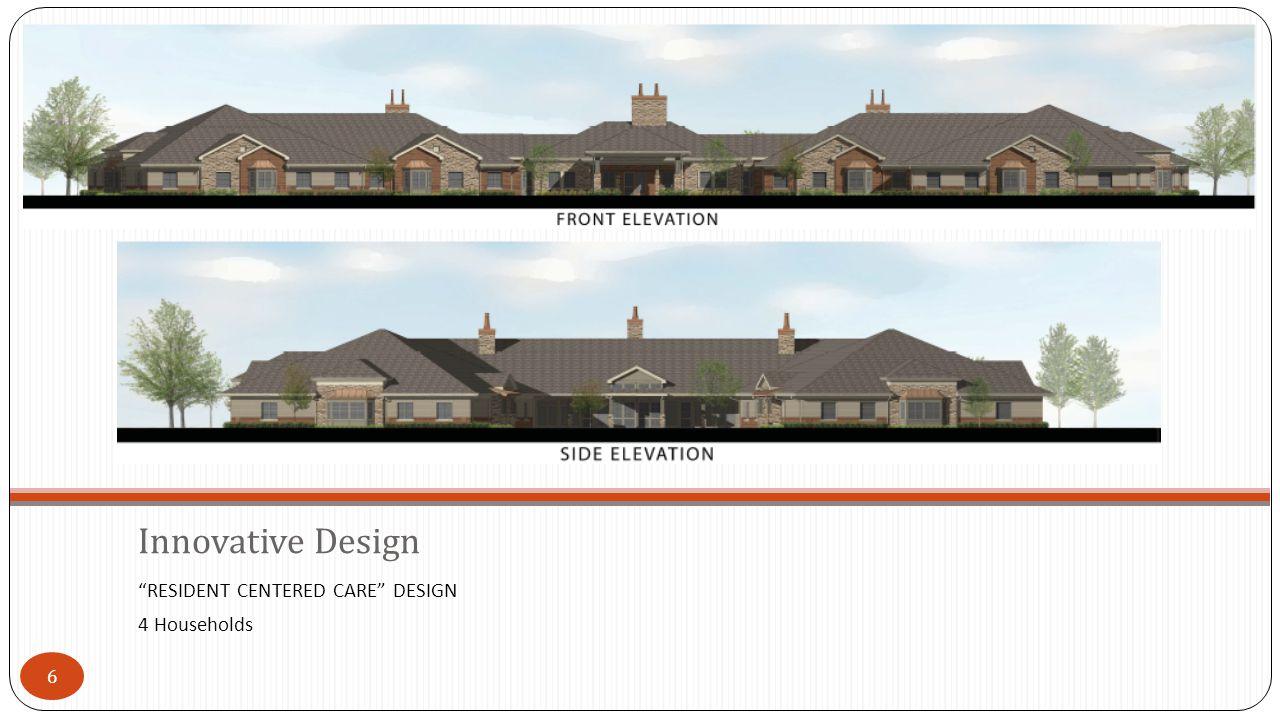 6 RESIDENT CENTERED CARE DESIGN 4 Households Innovative Design