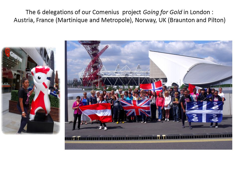 The subject of the Mobility 2 in UK : the Olympic Hopes in our countries Visit of the stadium in London