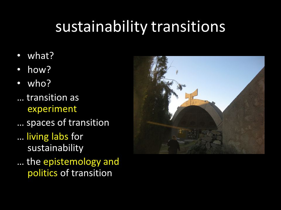 sustainability transitions what. how. who.
