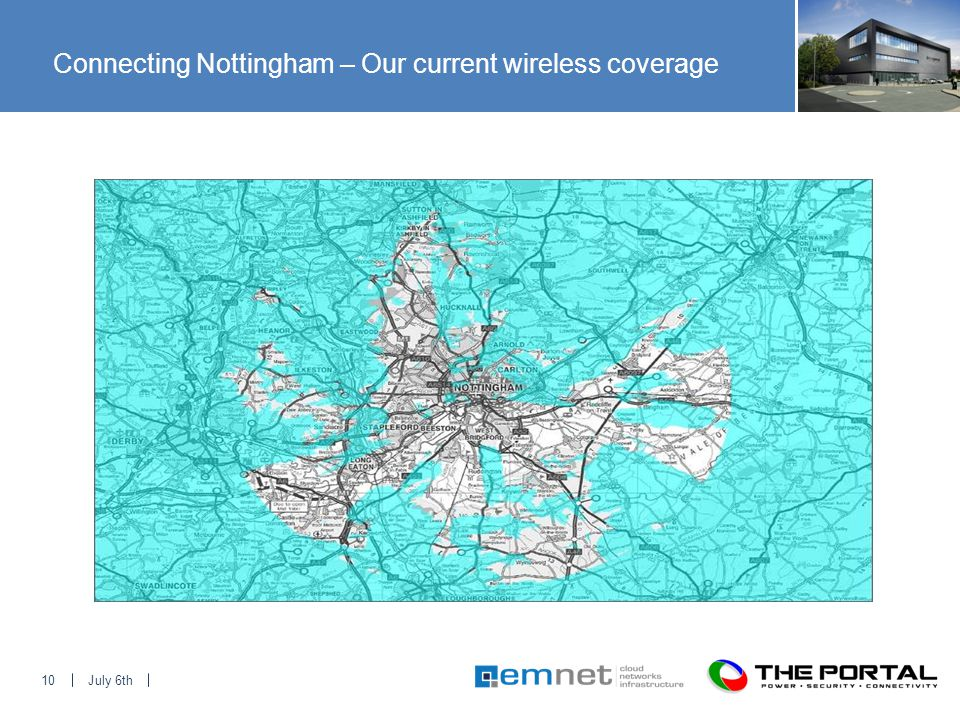 July 6th10 Connecting Nottingham – Our current wireless coverage