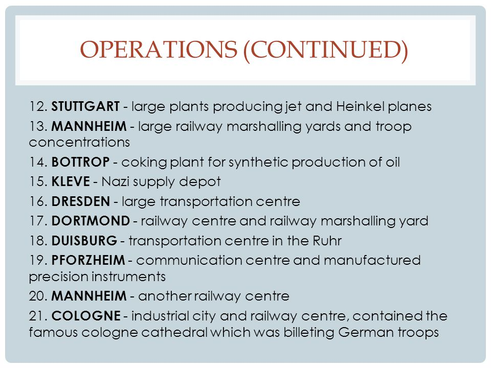 OPERATIONS (CONTINUED) 22.