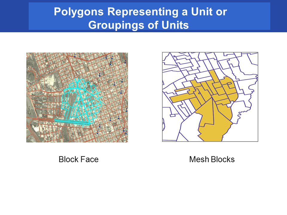 Polygons Representing a Unit or Groupings of Units Mesh BlocksBlock Face