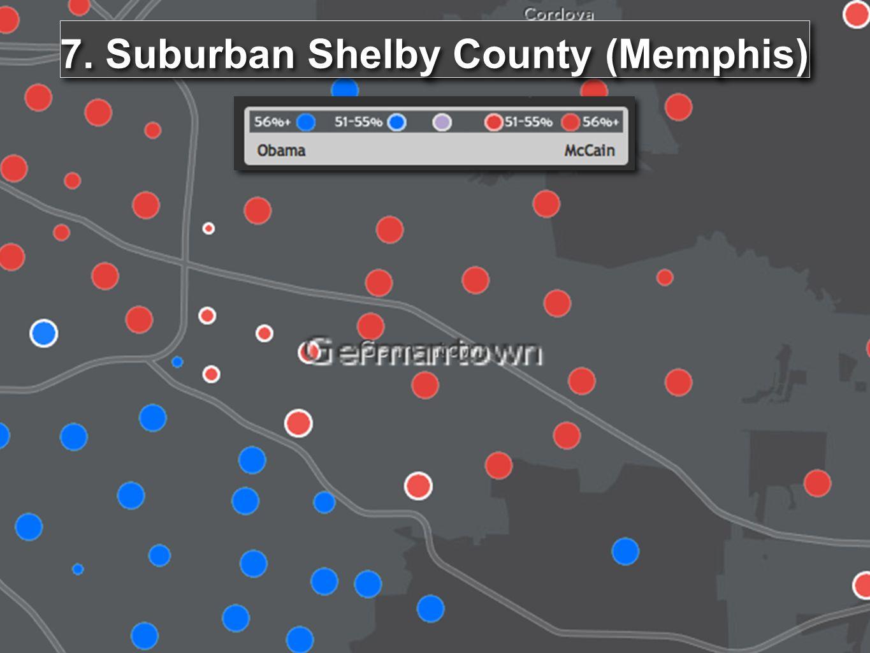 7. Suburban Shelby County (Memphis)